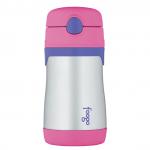 Купить термос-поильник с трубочкой розовый Foogo Phases №3