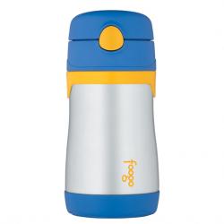 Купить термос-поильник с трубочкой синий Foogo Phases №3